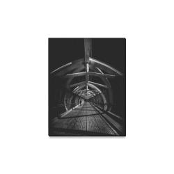 """Puente de Luz Pedestrian Bridge No 1 Canvas Print 11""""x14"""""""