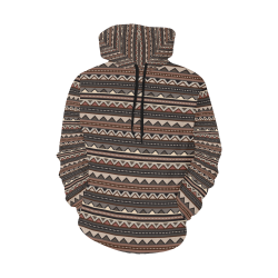 Native Tribal Print Women's Hoodie All Over Print Hoodie for Women (USA Size) (Model H13)