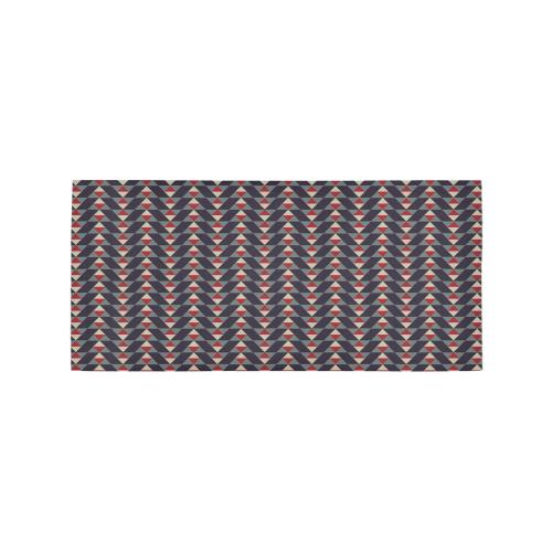 Mayan Pattern Dark Area Rug 7'x3'3''