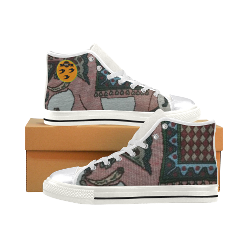 33 Elephant art for female Beautiful color Women's Classic High Top Canvas Shoes (Model 017)