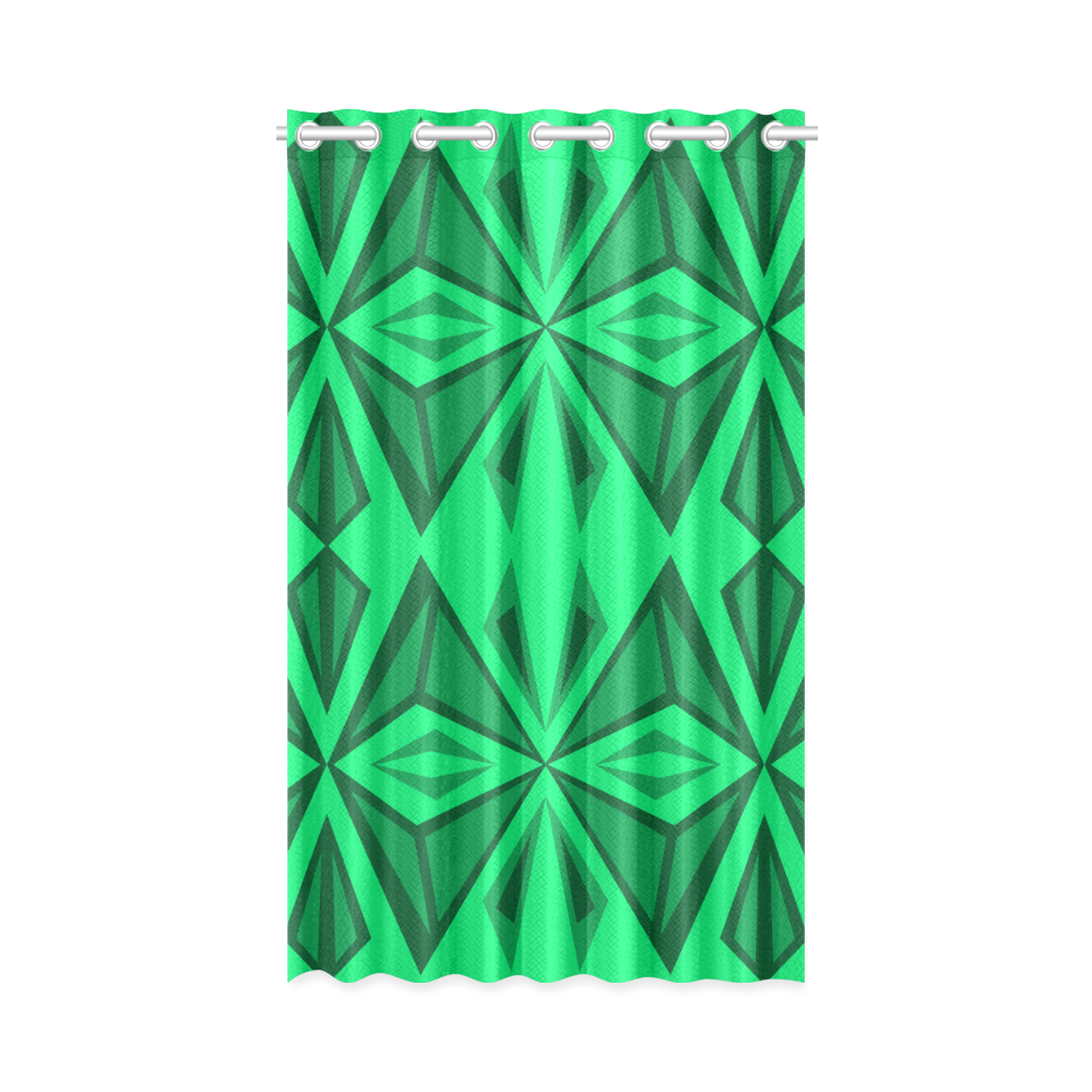"Green triangles New Window Curtain 50"" x 84""(One Piece)"