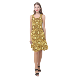 Saldana Sunflowers (Butter Yellow) Atalanta Casual Sundress(Model D04)