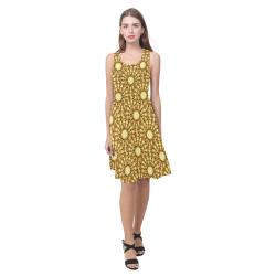 Saldana Sunflowers (Butter Yellow) Atalanta Casual Sundress(Model D04)
