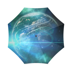 Earth Ball In The Universe Foldable Umbrella (Model U01)