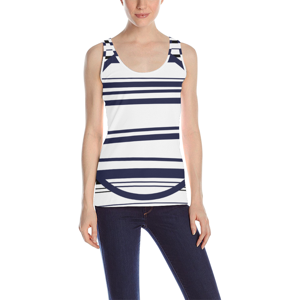 circle bar trans All Over Print Tank Top for Women (Model T43)