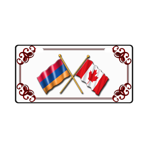 Armenian & Canadian Flag License Plate