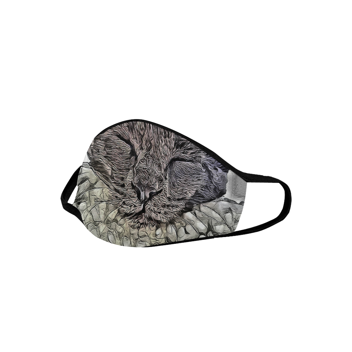 SLEEPING CAT MASK Mouth Mask