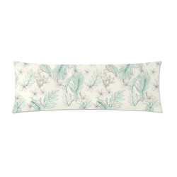 "Aloha Plants Custom Zippered Pillow Case 21""x60""(Two Sides)"