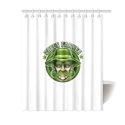 """Green Farmer Shower Curtain 60""""x72"""""""