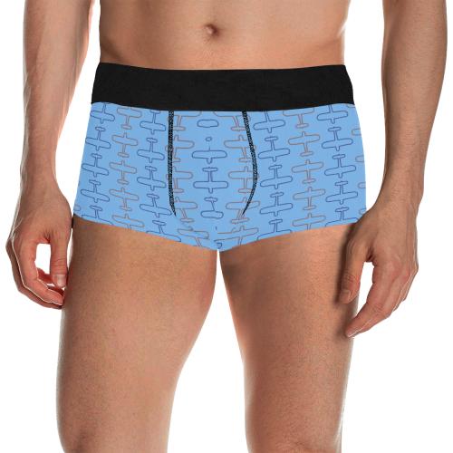 planes sml blu Men's All Over Print Boxer Briefs/Short Size (Model L22)