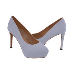 Silver Grey Women's High Heels (Model 044)