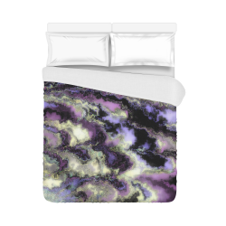 "Purple marble Duvet Cover 86""x70"" ( All-over-print)"