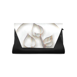 Silver Lotus Clutch Bag (Model 1630)