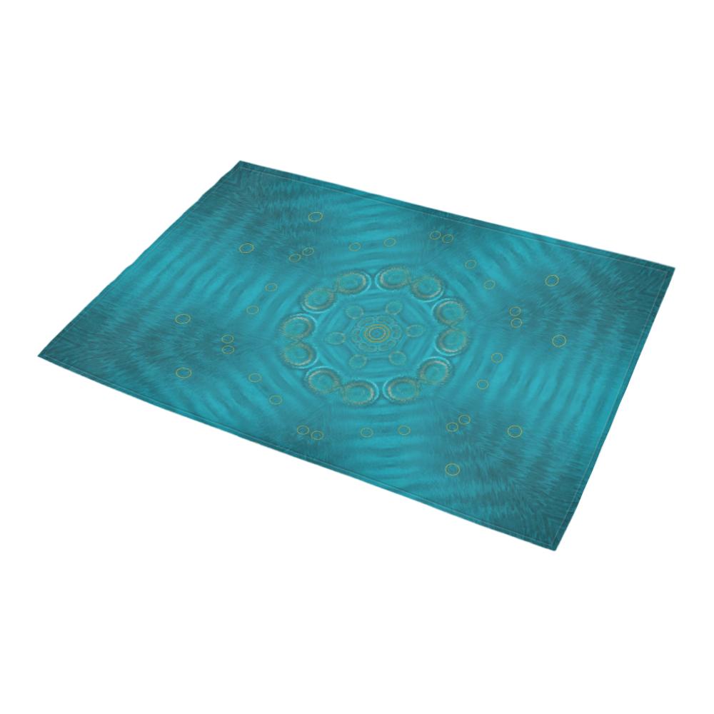 "spiritual sun is raising  peace of mind sea Azalea Doormat 24"" x 16"" (Sponge Material)"
