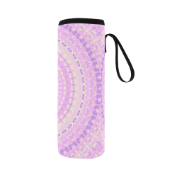 Pretty Pastel Mandala Neoprene Water Bottle Pouch/Large