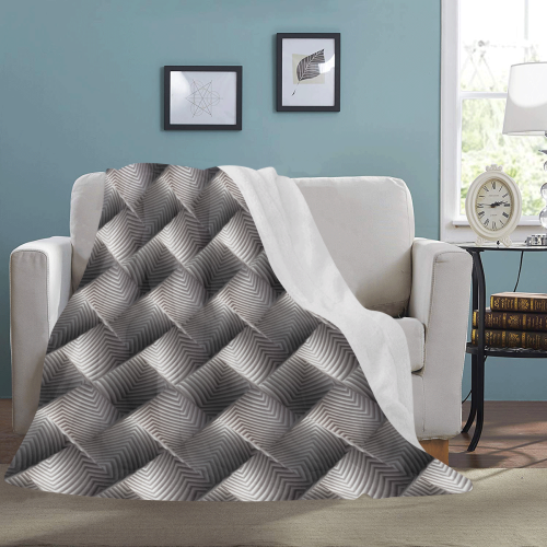"Metallic Tile - Jera Nour Ultra-Soft Micro Fleece Blanket 60""x80"""