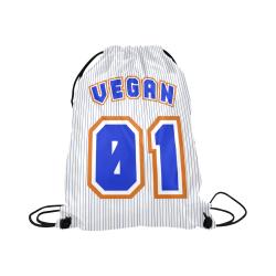 """No. 1 Vegan Large Drawstring Bag Model 1604 (Twin Sides)  16.5""""(W) * 19.3""""(H)"""