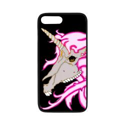 "Unicorn Skull Black Rubber Case for iPhone 7 plus (5.5"")"