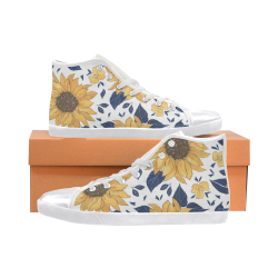 Sunflower Kids High Top Shoes High Top Canvas Kid's Shoes (Model 002)