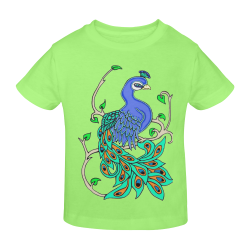 Pretty Peacock Mint Green Sunny Youth T-shirt (Model T04)