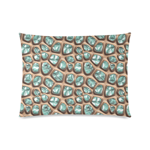 """Green crystals Custom Picture Pillow Case 20""""x26"""" (one side)"""