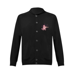 Cat with Violin Women's Baseball Jacket (Model H12)