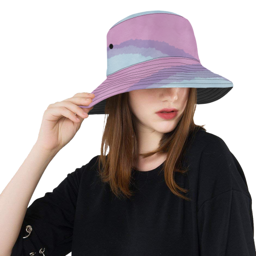AQUARELL LINES LADYLIKE All Over Print Bucket Hat