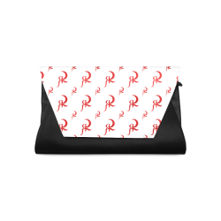 RED QUEEN SYMBOL PATTERN RED WHITE & BLACK Clutch Bag (Model 1630)