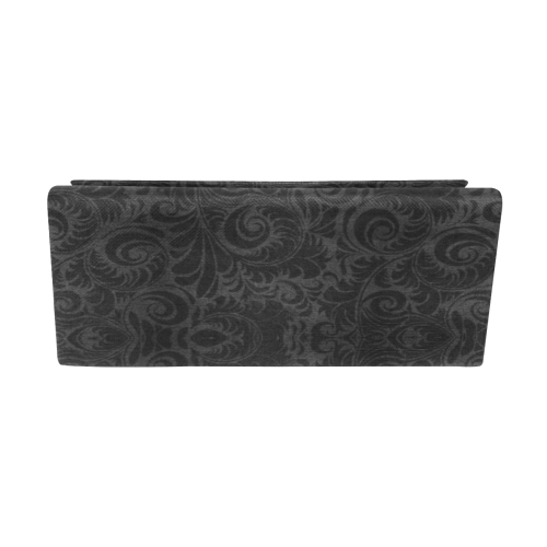 Denim, vintage floral pattern, black grey bohemian Custom Foldable Glasses Case
