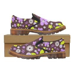 FLORAL DESIGN 4 Martin Women's Slip-On Loafer/Large Size (Model 12031)