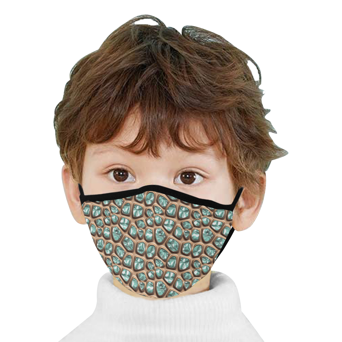 Green crystals Mouth Mask (2 Filters Included) (Non-medical Products)