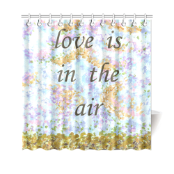 "Love Is In The Air Sky Grass Landscape shower curtain Shower Curtain 69""x70"""