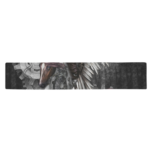 Aweswome steampunk horse with wings Table Runner 14x72 inch