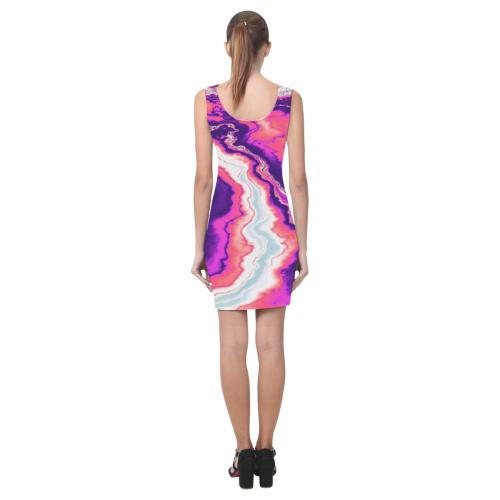 Pink and Purple Geode Medea Vest Dress (Model D06)
