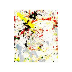 "Black, Red, Yellow Paint Splatter Poster 20""x24"""