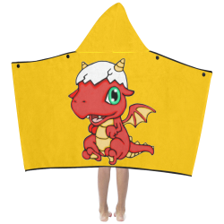 Baby Red Dragon Yellow Kids' Hooded Bath Towels