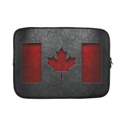 "Canadian Flag Stone Texture Custom Sleeve for Laptop 15.6"""