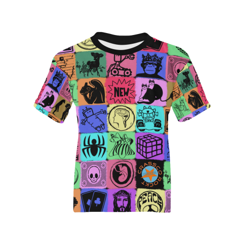 GRAPHIC ART PICTURES COLORFUL Kids' All Over Print T-shirt (Model T65)
