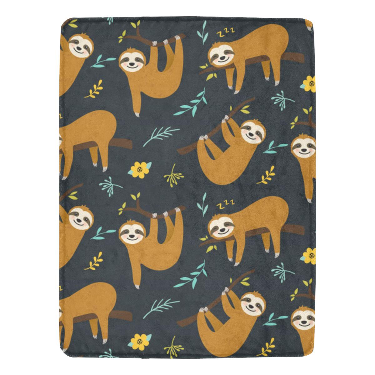 "Sloth Ultra-Soft Micro Fleece Blanket 60""x80"""