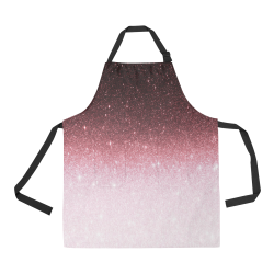 rose gold Glitter gradient All Over Print Apron