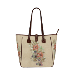leather flower art Classic Tote Bag (Model 1644)