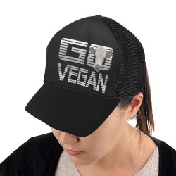 GO VEGAN CALF BASECAP Trucker Hat H (Front Panel Customization)