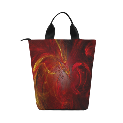 Red Firebird Phoenix Nylon Lunch Tote Bag (Model 1670)