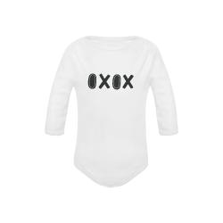Monochrome OXOX Baby Powder Organic Long Sleeve One Piece (Model T27)