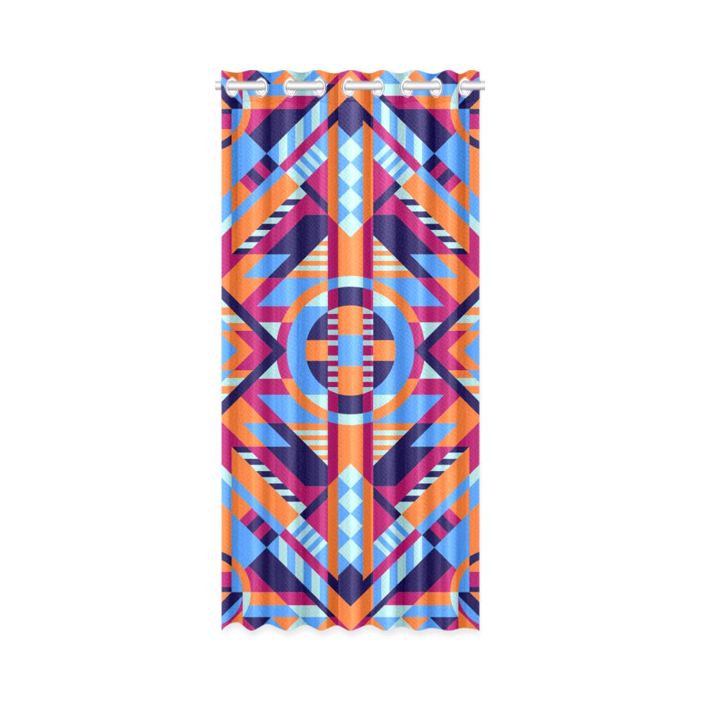 "Modern Geometric Pattern New Window Curtain 50"" x 108""(One Piece)"
