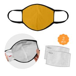Sunflower Orange Solid Color 3D Mouth Mask (2 Filters Included) (Model M03)