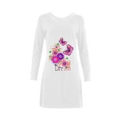 I Dream Of Butterflies Demeter Long Sleeve Nightdress (Model D03)
