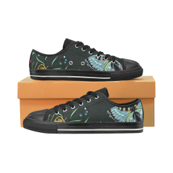 mariposas y flores Women's Classic Canvas Shoes (Model 018)