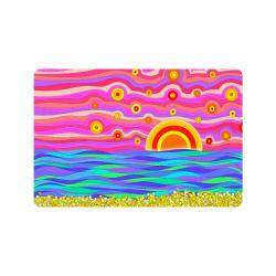 "Psychedelic Sunset by ArtformDesigns Doormat 24""x16"""