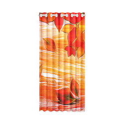 """Red Leaves New Window Curtain 50"""" x 108""""(One Piece)"""